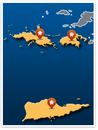 WestCare Foundation - Mental health needed in us virgin islands on a map